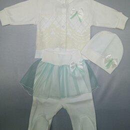 Юбки - Комплект 3 предмета для девочки с юбочкой р.56, 62 см арт.30102 (62 см), 0