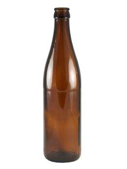 Этикетки, бутылки и пробки - Бутылка 0,5 л ПИВНАЯ (коричневая), 0