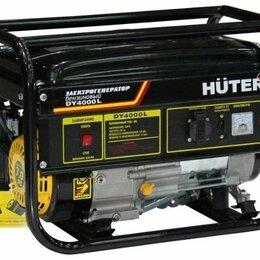 Электрогенераторы и станции - Бензогенератор huter DY4000L, 0