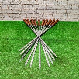 Шампуры - Шампуры 50 см с деревянной ручкой 10, 0