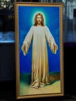 Картины, постеры, гобелены, панно - картина художника-аэрографа Иисус в белом хитоне, 0