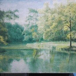 Картины, постеры, гобелены, панно - Картина большая 137×84.Река Кубань, 0