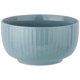 Блюда, салатники и соусники - Салатник фарфоровый голубой Majesty, 0
