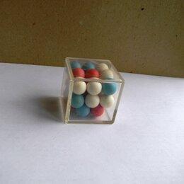 Головоломки - Головоломка СССР Прозрачный куб с шариками, 0