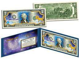 Банкноты - Козерог 2 доллара США цветная, 0
