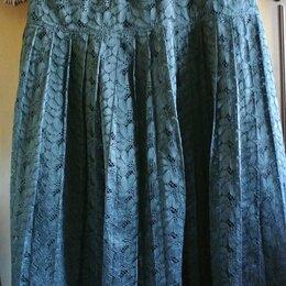 Юбки - Нарядная юбка из гипюра на подкладке. Плиссе. Германия. Разм.44-46, 0