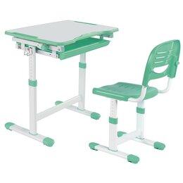 Компьютерные и письменные столы - Парта-трансформер детская со стулом зеленая…, 0