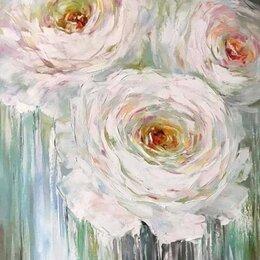 """Картины, постеры, гобелены, панно - Картина на холсте """"Белый цветок"""", 0"""