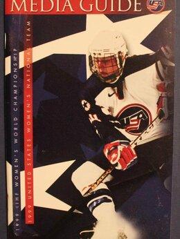 Спортивные карточки и программки - Медиагайд США на чемпионате мира по хоккею 1999,…, 0