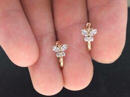 Серьги - Золотые серьги • Женские с фианитами, пр. 585°, 0