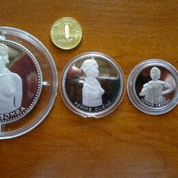 Монеты - ДАГОМЕЯ (с 1974 г. БЕНИН) набор из 4-х серебряных монет 1971 г., 0