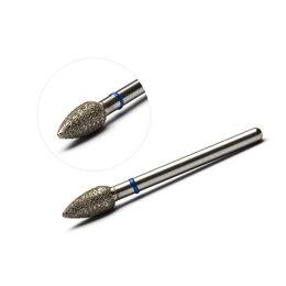 Аппараты для маникюра и педикюра - Фреза алмазная, пламя (средняя твердость) 4.5х9 мм, 0