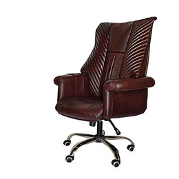 Массажные кресла - Офисное массажное кресло EGO PRESIDENT EG1005 под заказ (Кожа - Арпатек), 0