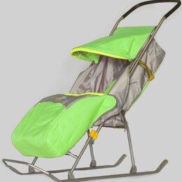 Санки и аксессуары - Санки-коляска Ника Умка 2, зеленый, 0