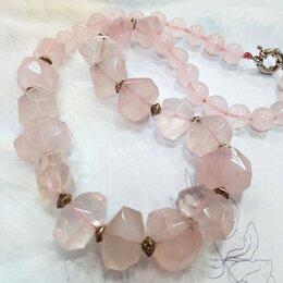 Колье - Колье ожерелье Розовый Кварц, 0