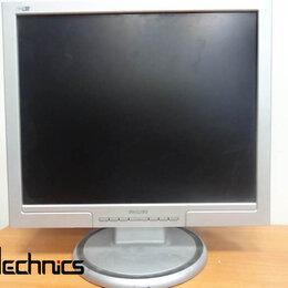 """Мониторы - Монитор ЖК 19"""" 5:4 Philips 190S7 черный-серебристы, 0"""