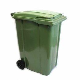 Корзины, коробки и контейнеры - Мусорный контейнер 360л зеленый, 0