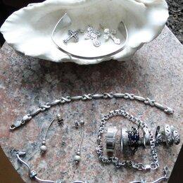 Комплекты - Браслет  серебряный полуобруч., 0