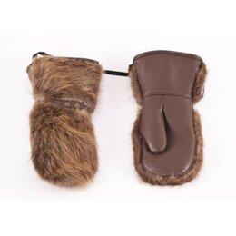 Перчатки и варежки - Рукавицы кожано-меховые, бобр, внутри овчина, 0