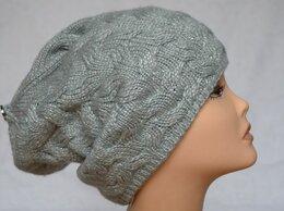 Головные уборы - Вязаная женская шапка косами серая Vizio Италия…, 0