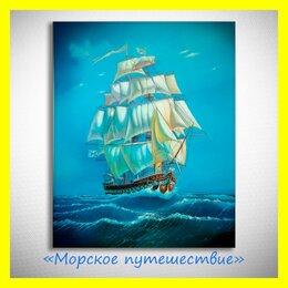 """Картины, постеры, гобелены, панно - 🎨Картина маслом """"Морское путешествие"""". Нестеров., 0"""
