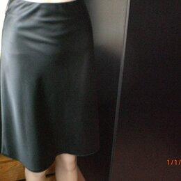 Юбки - Юбка атласная чёрная женская новая р. 42-48 Турция, 0