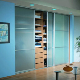 Шкафы, стенки, гарнитуры - Двери-купе. Матовое стекло, 0
