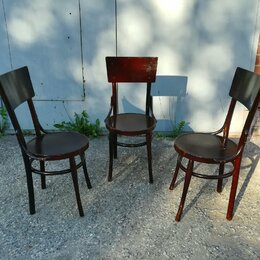 Стулья, табуретки - Гнутые деревянные стулья 3 шт, 0