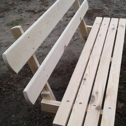 Скамейки - Скамейка сосновая со спинкой 150 40 30 см., 0