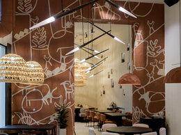 Люстры и потолочные светильники - Светильник для кафе ресторана плетеный, 0