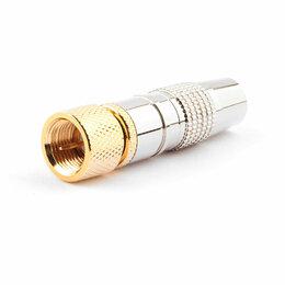 Кабели и разъемы - Разьем Cablexpert SPL6-04 F (папа) позолоченный ла, 0