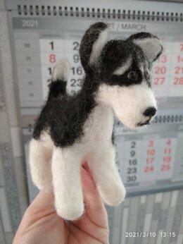 Мягкие игрушки - Игрушка валяная - Хаски щенок, 0