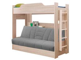 Кровати - Кровать детская двухъярусная с диван-кроватью БНП, 0