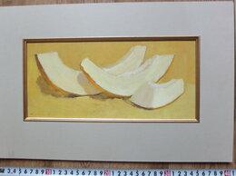 Картины, постеры, гобелены, панно - картина натюрморт Дыня,картон,масло, 0