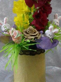 Цветы, букеты, композиции - букет с безе ручной работы .заичики это безе, 0
