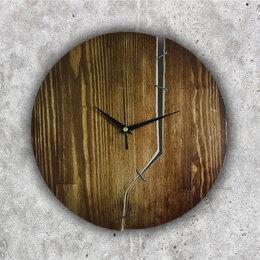Часы настенные - Настенные часы из дерева Лофт (29 см), 0