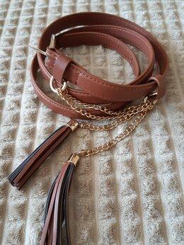 Ремни и пояса - Ремень с кисточками на цепочках, 0