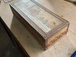 Шкатулки - Шкатулка резная деревянная, 0