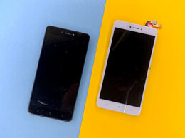 Дисплеи и тачскрины - Дисплей Xiaomi Redmi Note 4X / 4 Global с рамкой, 0