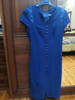 Платья - Платье синее очень красивое, оригинальное 46-48р. , 0