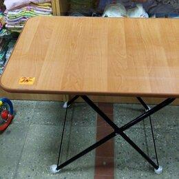 Походная мебель - стол складной туристический размер 750*500 мм 2 уровня по высоте до 50 кг, 0