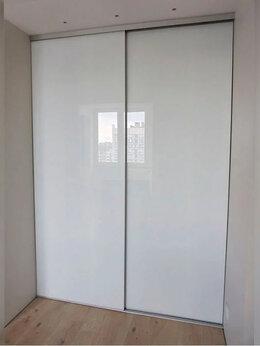 Шкафы, стенки, гарнитуры - Раздвижные двери-купе. Белое стекло. Узкий профиль, 0