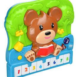 """Детские музыкальные инструменты -  Пианино обучающее """"Медвежонок"""", 10 песен,  20х18х5см, 0"""
