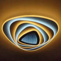 Люстры и потолочные светильники - Люстра светодиодная с 3D-экраном, пульт ду (156), 0