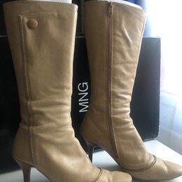 Одежда и обувь - Кожаные сапоги Mango, демисезон, Испания, 0