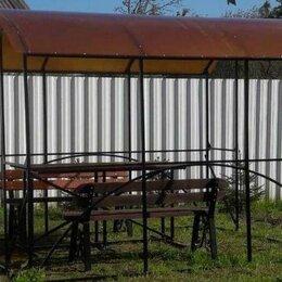 Комплекты садовой мебели - Беседка - Навес металлическая 2,6 х 3 м; 2,6х4 м, 0