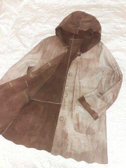 Куртки - Куртка замшевая с капюшоном , 0
