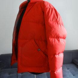 Куртки - Куртка - пуховик, мужская,  красная,  M, 0
