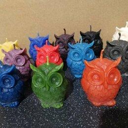 Декоративные свечи - Интерьерные восковые свечи совы и конусы, 0
