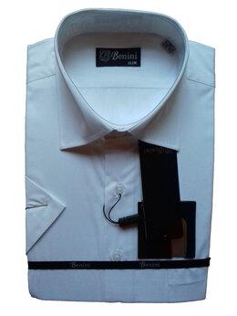 Рубашки - Белая рубашка Benini, новая, короткий рукав, 0